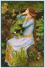 Shakespeares Ophelia by William Waterhouse Counted Cross Stitch Chart Pattern