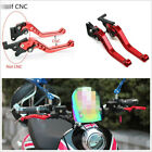 2X High Quality GY6 Motorcycle Brake Lever Adjustable Disc/Drum Hand Brake-Horns