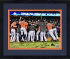 Framed Astros 2017 WS Champs Signed 16x20 Celeb Photo w/ 7 Sigs