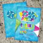 Girl Pool Party Invitations Pool Party Summer Pool Birthday Invite Girls