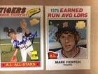 Two Mark Fidrych Tigers Signed Topps Cards(Archive & Fan Favorite) with COA