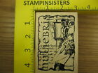 Rubber Stamp Stampers Anonymous Collage Woman Script Stampinsisters 2076