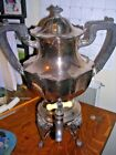 Meriden Silverplate Coffee Urn with Lid 2046 U.S.A. Silver Plated and warmer pot