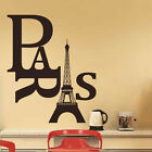 Removable PVC Paris With Eiffel Tower Wall Stickers Romatic HOME Room DIY Decor