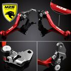 Red MZS Pivot Clutch Brake Levers For Honda CRF230F 2003-2017 CRF150F 2003-2017