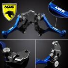 Blue MZS Pivot Clutch Brake Levers For Kawasaki KX100 2001-2017 / KX250F 2004 us