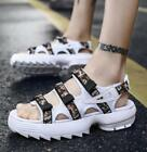 Vogue Mens Open Toe Slingback Sandals Flat Sneakers Beach Casual Creepers New