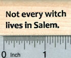 Witch Saying Rubber Stamp Halloween Series B30926 WM