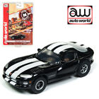 Auto World Xtraction R23 1996 Dodge Viper GTS Black HO Scale Slot Car
