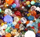 1300+ Czech Fire Polished Glass Faceted Bead MIX Over 1 Pound