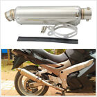 Universal 38 51mm Motorcycle Scooter Modify Exhaust Pipe Muffler Stainless Steel