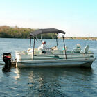 4 BOW BIMINI PONTOON DECK BOAT COVER TOP 91 96 GRAY 8 FT INCLUDES HARDWARE