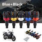 1X Motorbike ATV CNC Frame Slider Anti Crash Falling Engine Protector Blue+Black