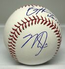 Mike Trout & Bryce Harper Dual Signed Baseball AUTO JSA LOA Angels Nationals