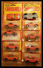 Vintage Lesney Matchbox 1976 BMW 30 CSL Orange Superfast  45 LOT OF 10 CARS