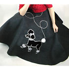 Adult  Plus Hand Made Poodle Skirt 1950s Retro Choose Size Color FREE SHIPPING