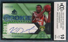 KEVIN DURANT 2007-08 SP GAME USED ROOKIE EXCLUSIVES AUTO # 100 BCCG 10 MINT BGS!