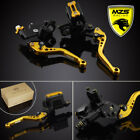MZS Clutch Brake Levers Master Cylinder Reservoir For Yamaha YZF R1 R6 R6S FZ1/6