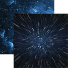 Reminisce SPACE WARP 12x12 Dbl Sided 2pc Scrapbooking Paper SPACE WARS