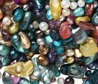 OVER 100 Pc LOT REAL PEARLS UNIQUE ShapesSizes BRILLIANT Colors US SELLER