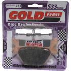 Rear Disc Brake Pads for Harley Davidson FXRS Low Rider 1987 1340cc By GOLDfren