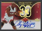2006-07 Exquisite Alonzo Mourning Auto Patch Number Pieces #6 33 Miami Heat