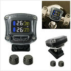 Multifunction LCD Display Wireless Motorcycle Tire Pressure Monitor System + USB