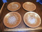 Vintage FIRE KING PEACH LUSTRE LAUREL Set Of 4 9