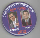 2012 MITT ROMNEY Paul Ryan JUGATE Political PINBACK Pin BUTTON Badge PRESIDENT