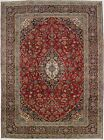 Traditional S Antique Handmade Red Kashaun Persian Rug Oriental Area Carpet 9X12