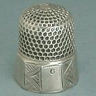 Antique Sterling Silver Panel Band Child's Thimble * Circa 1880s
