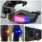 2 X Motorcycle ATV Handguard Baffle 12V LED With Light Guard Grip Protector Hood