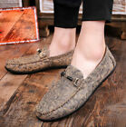 Mens Casual Flat Slip On Loafer Shoes Round Toe Breathable Driving Sneaker yooo