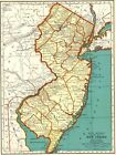 1939 Vintage NEW JERSEY Map Collectible State Map of New Jersey 5382
