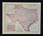 1900 McNally Map - Texas  Austin Dallas Houston San Antonio El Paso Galveston TX