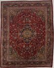 Nice Traditional Handmade Vintage Red Persian Rug Oriental Area Carpet 10X13