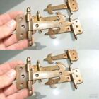 8 small hinges vintage old age style solid Brass DOOR BOX restoration heavy 5