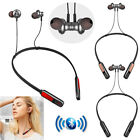 Stereo Bluetooth Headset Magnetic Earbud Noise Cancelling Earphone For Men Women