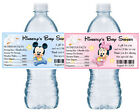 20 MICKEY MINNIE MOUSE BABY SHOWER WATER BOTTLE LABELS PARTY FAVORS