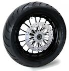Ultima Manhattan Black Billet Aluminum 18 5.5 Rear Wheel BW Tire Package Harley