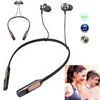 Music Bluetooth Headset Magnetic Earbud Noise Cancelling Handsfree Earphones