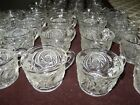 Lot of 36  LE Smith AZTEC Pinwheel PUNCH BOWL CUPS EAPG depression style