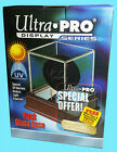 ULTRA PRO PREMIUM GLASS with REAL CHERRY WOOD HOCKEY PUCK Display Case Holder
