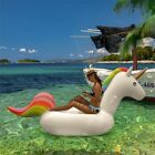 Giant 7 ft Inflatable Rainbow Unicorn Pool Float Fun Party Toy Lounge Kids Adult