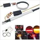 2 X Dual Color LED Motorcycle ATV Fork Turn Signal+Brake Lights Strip Waterproof