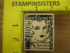 Rubber Stamp Fortuna Stampers Anonymous Lady Test Collage Stampinsisters 867
