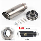 1 Set 35 51mm Titanium Color Double Deck Motorcycle Scooter Exhaust Muffler Pipe