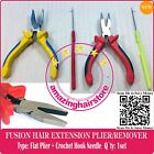 Flat Clamp Plier & Latch Needle Fusion to Feather Hair Extension Micro Ring Link