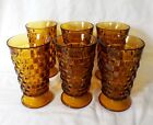 Set of 6 Original Amber Colony Whitehall Cubist Footed 6