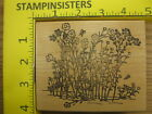 Rubber Stamp Garden of Tall Wildflowers Flowers Butterfly Stampinsisters 32